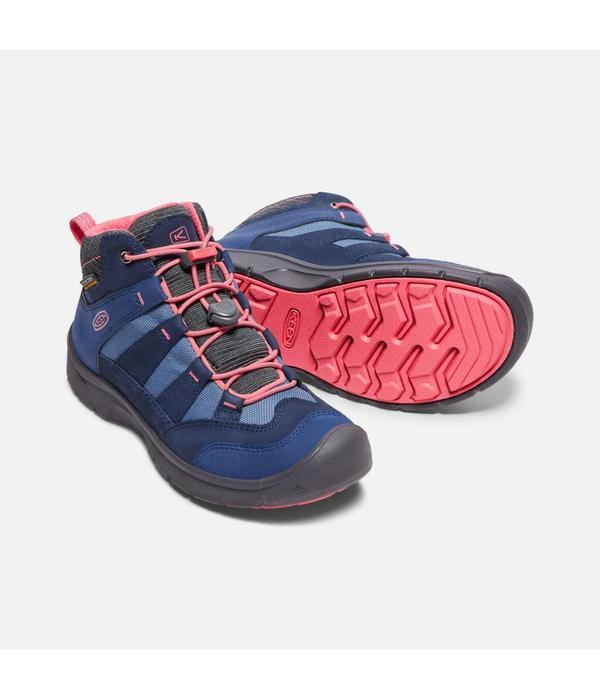 KEEN HIKEPORT WATERPROOF YOUTH - BLUES/CORAL