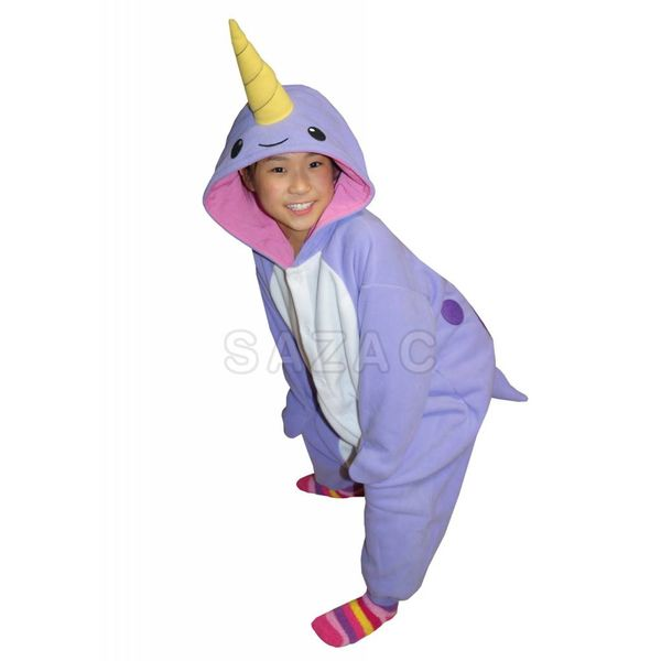 PURPLE NARWHAL ONESIE - KIDS (5-9 YEARS)