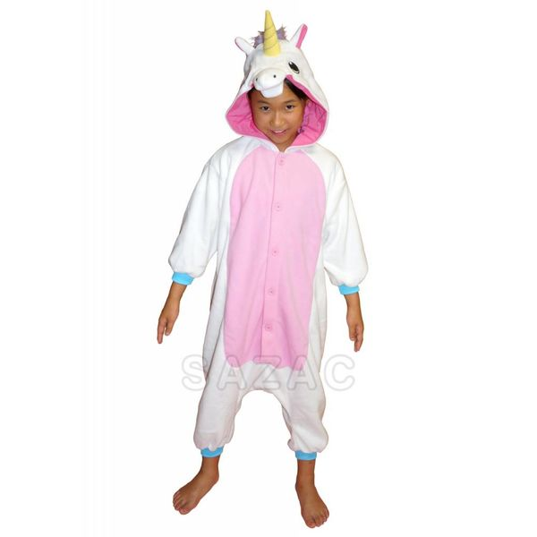 WHITE UNICORN ONESIE - KIDS (5-9 YEARS)