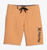 HURLEY JUNIOR BOYS ONE AND ONLY BOARDSHORT - BRIGHT CITRUS HEATHER