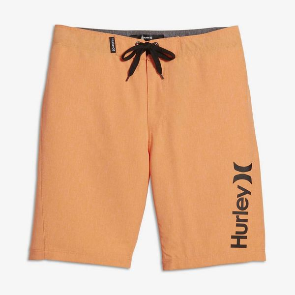 JUNIOR BOYS ONE AND ONLY BOARDSHORT - BRIGHT CITRUS HEATHER