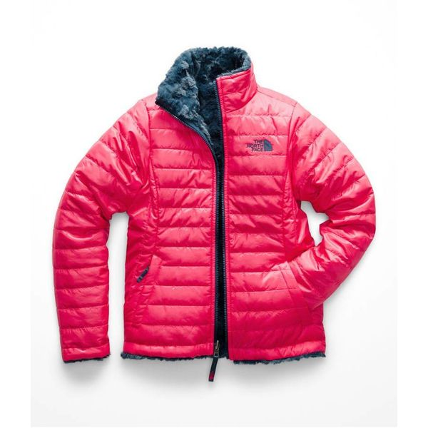 GIRLS REVERSIBLE MOSSBUD SWIRL JACKET - ATOMIC PINK