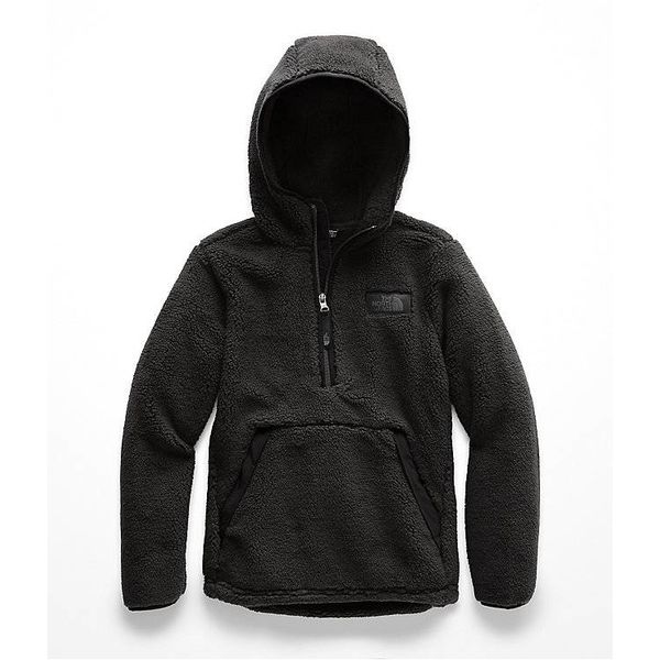 BOYS CAMPSHIRE PULLOVER HOODIE - TNF BLACK - SIZE SMALL 7/8 ONLY