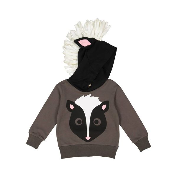 WOODLAND SKUNK 3D HOODIE - SIZE 2T ONLY