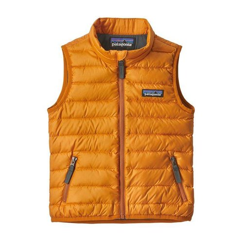 PATAGONIA BABY DOWN SWEATER VEST - MARIGOLD - SIZE 12-18M ONLY