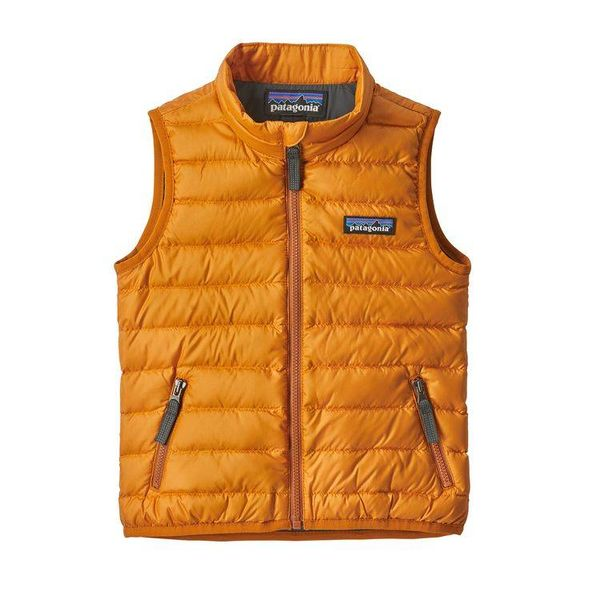 BABY DOWN SWEATER VEST - MARIGOLD