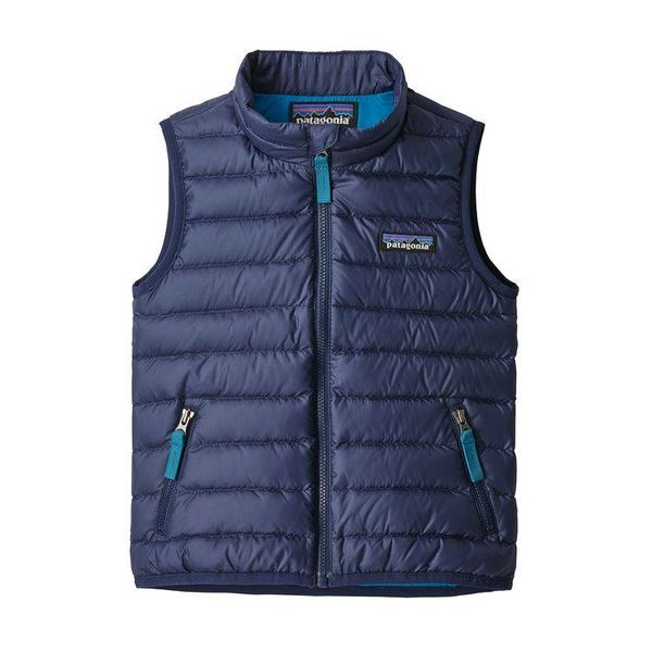 BABY DOWN SWEATER VEST - CLASSIC NAVY