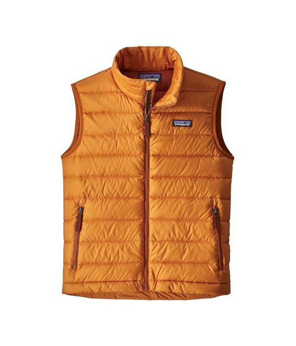 PATAGONIA BOYS DOWN SWEATER VEST - MARIGOLD