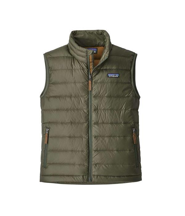 PATAGONIA BOYS DOWN SWEATER VEST - INDUSTRIAL GREEN