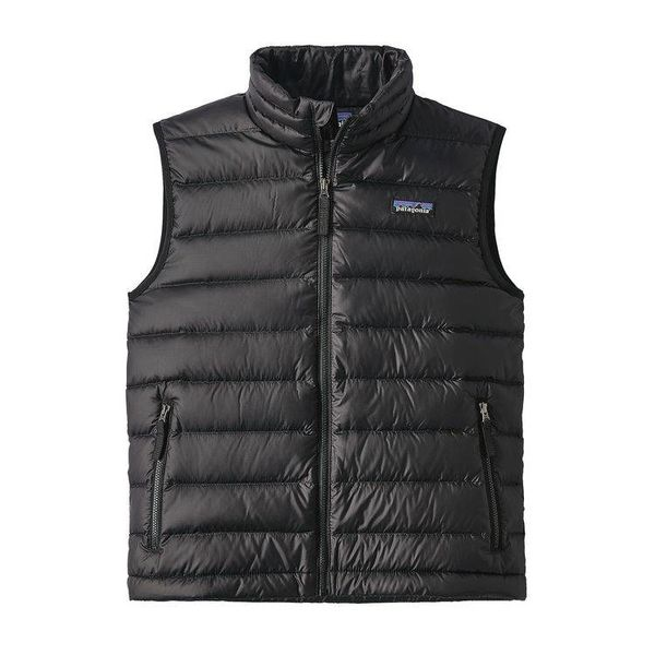 BOYS DOWN SWEATER VEST - BLACK