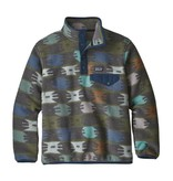 PATAGONIA BOYS SYNCHILLA SNAP-T PULLOVER - BADLANDS/FATIGURE GREEN