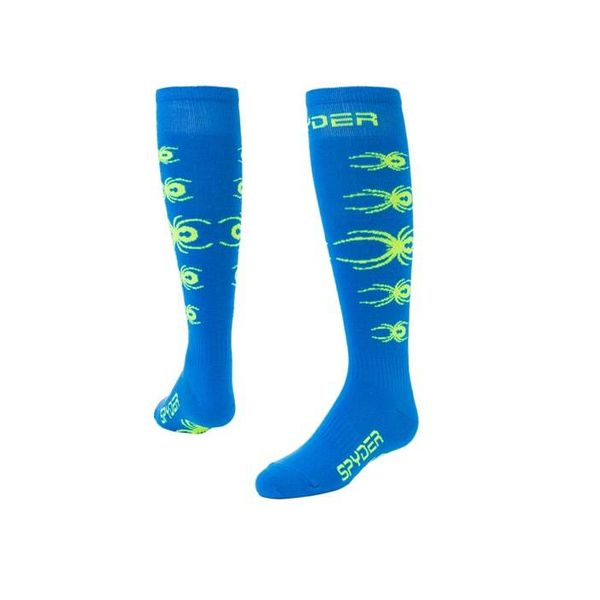 BOY'S BUG OUT SOCKS - TURKISH SEA/BRYTE YELLOW - SIZE XSMALL ONLY
