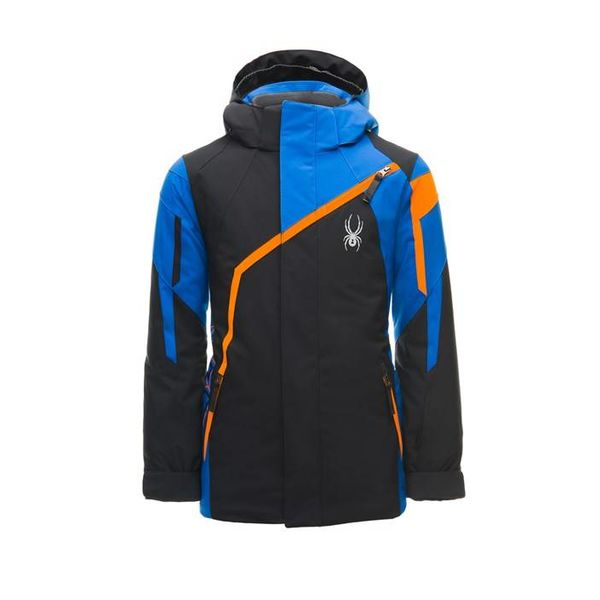 BOY'S CHALLENGER JACKET - BLACK/TURKISH SEA/EXUBERANCE