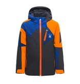 SPYDER BOY'S LEADER JACKET - BLACK/EXUBERANCE/CLOUDY BLUE