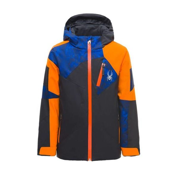 BOY'S LEADER JACKET - BLACK/EXUBERANCE/CLOUDY BLUE