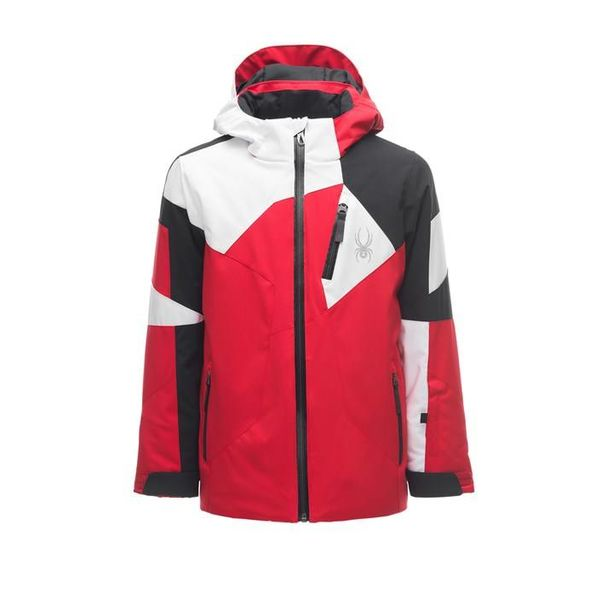 BOY'S LEADER JACKET - RED/BLACK/WHITE
