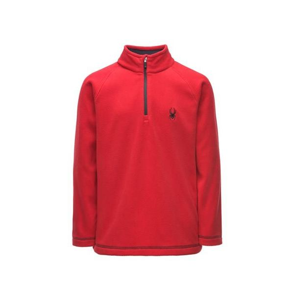 BOY'S SPEED FLEECE TOP - RED/BLACK