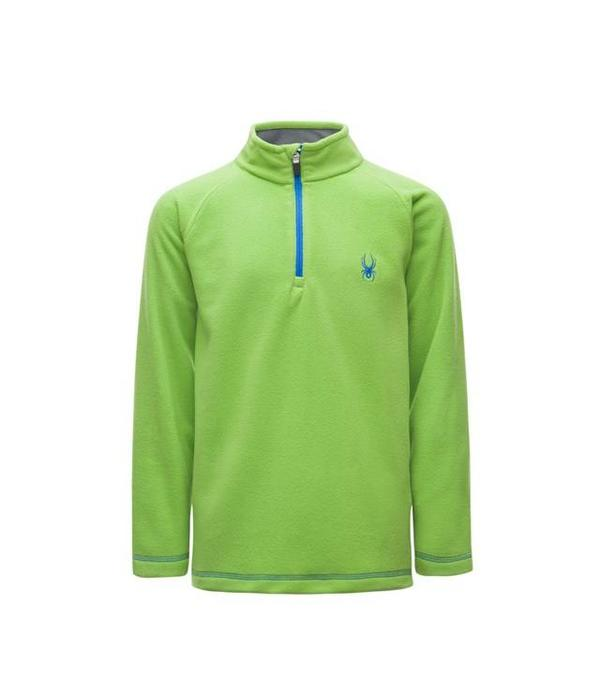 SPYDER BOY'S SPEED FLEECE TOP - FRESH/TURKISH SEA