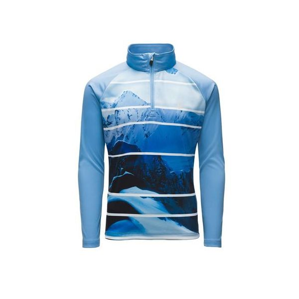 GIRL'S LIMITLESS POWDER PEAK STRYKE ZIP T-NECK - BLUE ICE