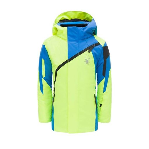 SPYDER MINI CHALLENGER JACKET - BRYTE YELLOW/FRENCH BLUE/BLACK
