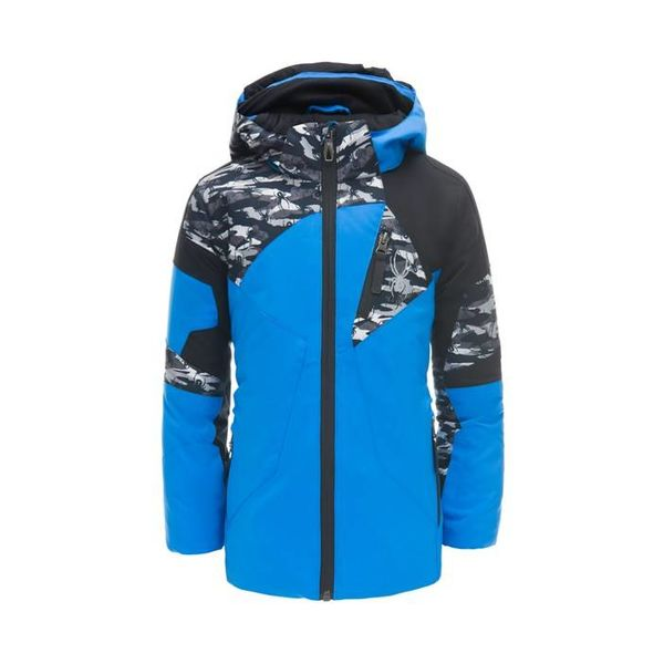 MINI LEADER JACKET - FRENCH BLUE/SPYDER CAMO - SIZE 3 ONLY