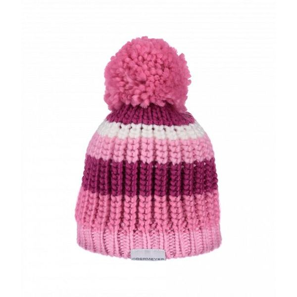 GIRLS LEE KNIT HAT - POSITIVELY PINK