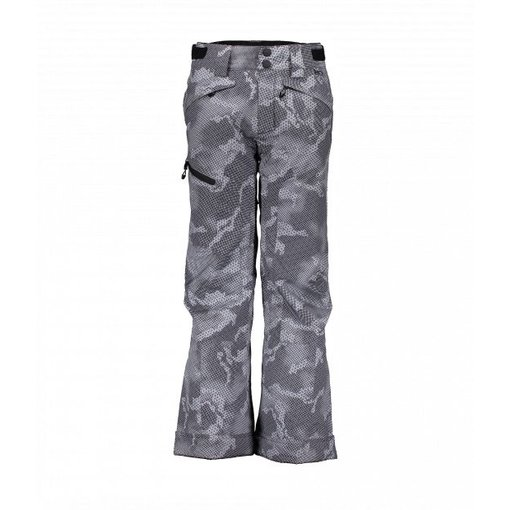 OBERMEYER JUNIOR BOYS PARKER PANT - GREY BIT CAMO