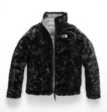 THE NORTH FACE GIRLS REVERSIBLE MOSSBUD SWIRL JACKET - WHITE MINI DOT