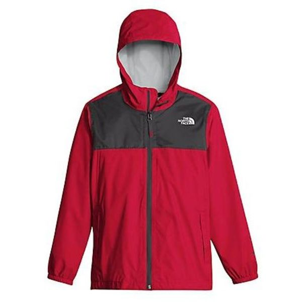 BOY'S ZIPLINE RAIN JACKET - TNF RED