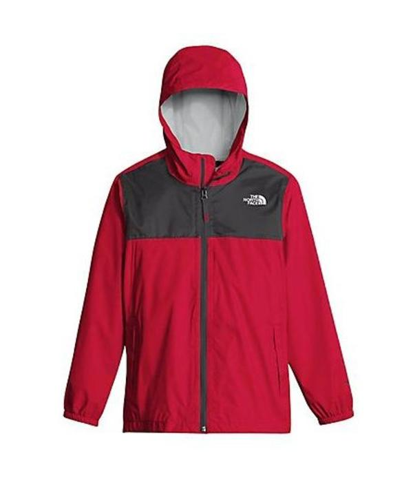 THE NORTH FACE BOY'S ZIPLINE RAIN JACKET - TNF RED