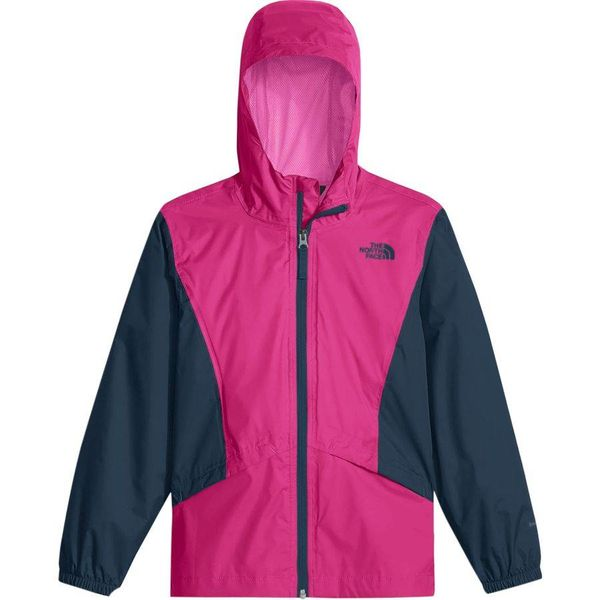GIRL'S ZIPLINE RAIN JACKET - PITCH PINK - SIZE MEDIUM (10-12) ONLY