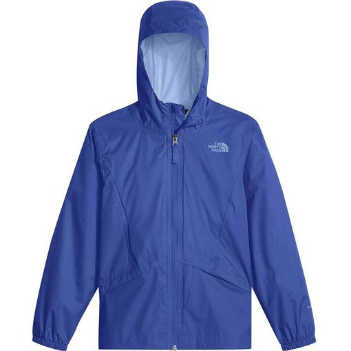 THE NORTH FACE GIRL'S ZIPLINE RAIN JACKET - DAZZLING BLUE