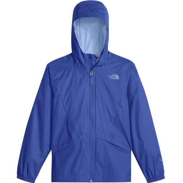 GIRL'S ZIPLINE RAIN JACKET - DAZZLING BLUE - SIZE SMALL 7/8 ONLY