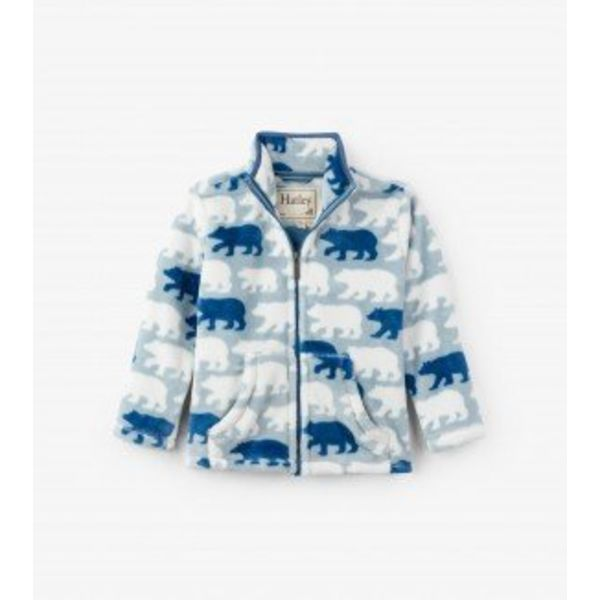 POLAR BEAR FUZZY FLEECE ZIP UP JACKET