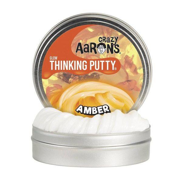 AMBER GLOWS IN THE DARK THINKING PUTTY