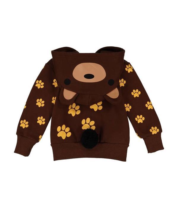 DOODLE PANTS WOODLAND BEAR 3D HOODIE