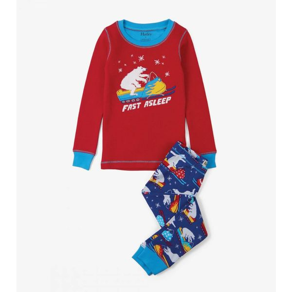 POLAR BEAR SNOWMOBILE APP PJ SET - SIZE 7 ONLY