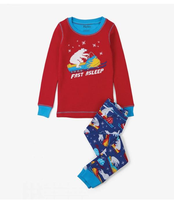HATLEY POLAR BEAR SNOWMOBILE APP PJ SET