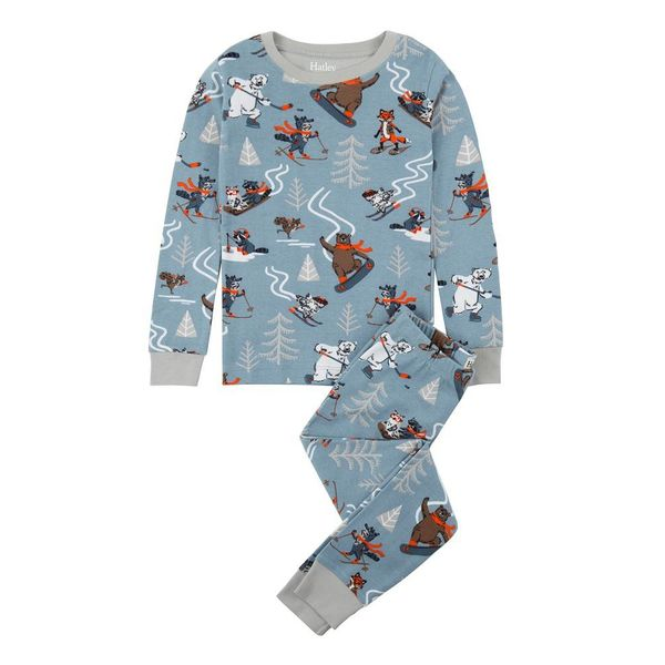WOODLAND ANIMALS ORGANIC PAJAMA SET