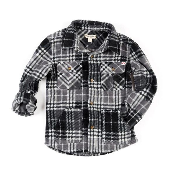 SNOW FLEECE SHIRT - CHARCOAL PLAID