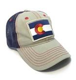 YOCO ADULT COLORADO DIESEL FLAG PATCH TRUCKER HAT