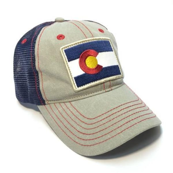 ADULT COLORADO DIESEL FLAG PATCH TRUCKER HAT