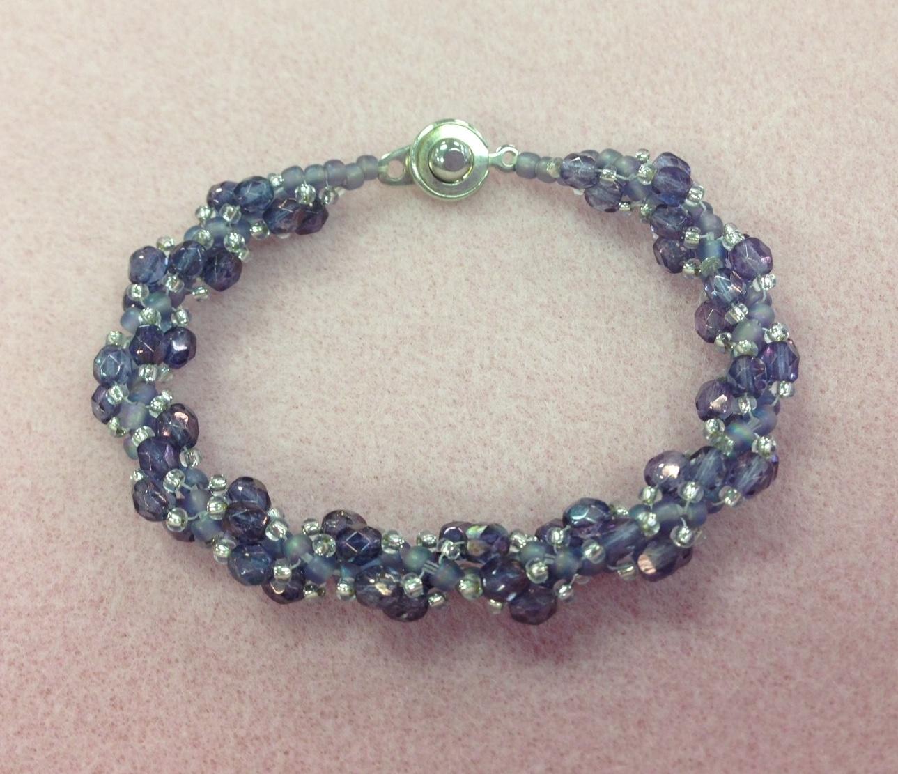 3/25 6-9pm Spiraling Fire Polished Bracelet