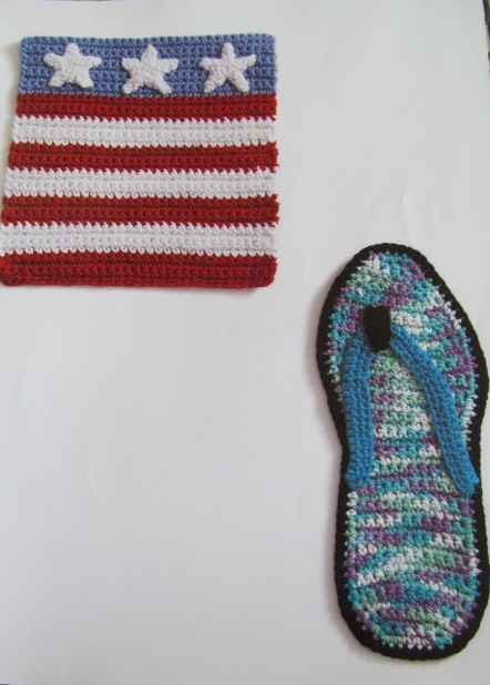 7/18 6-9pm Month By Month Dishcloths - July