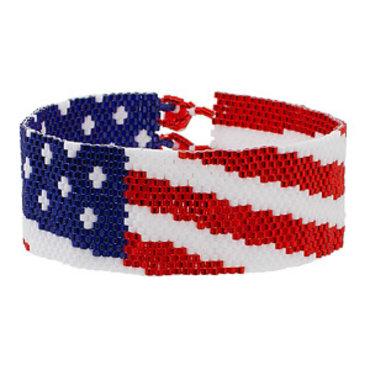 7/10 6-9p Spangled Banner Bracelet