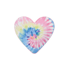Iscream Tie Dye Heart Bubble Gum Pillow