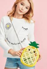 Pineapple Glitter Crossbody Bag