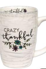 Brownlow Gifts Gift Mug-Crazy Thankful