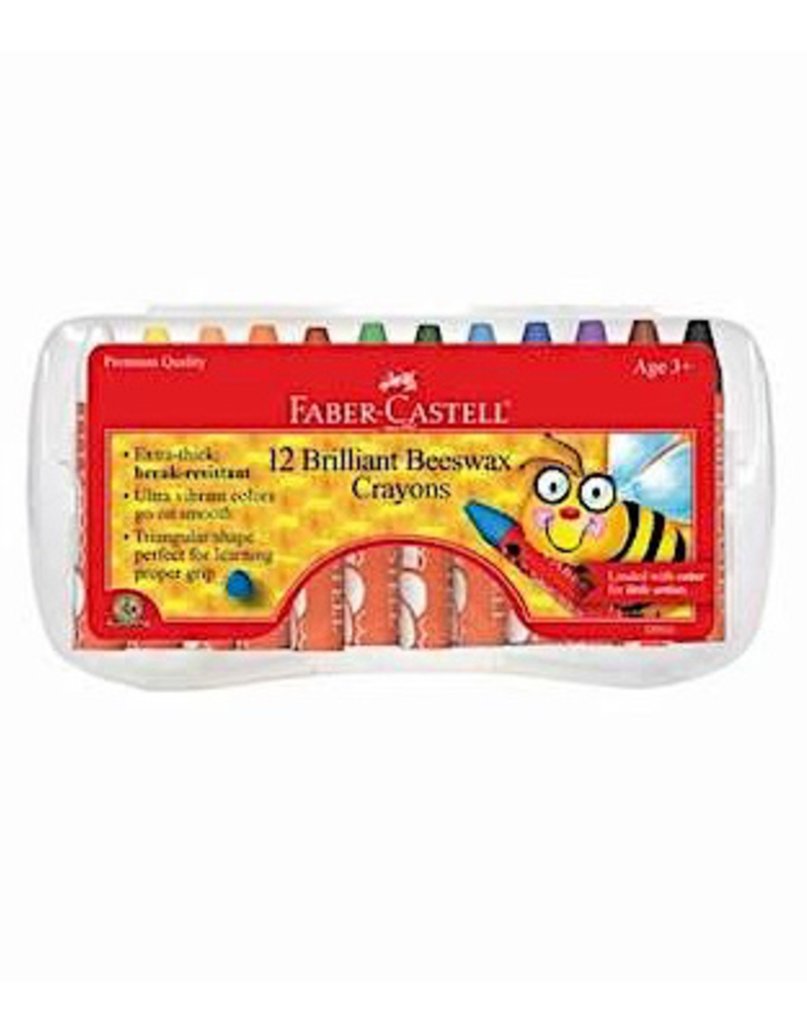 Faber Castell 12ct Brilliant Beeswax Crayons in Storage Case