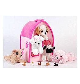 "Unipak Design 12"" Pink Dog House"